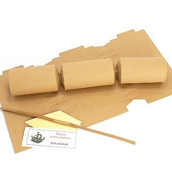 Single Natural Brown Kraft Recycled Make & Fill Your Own Cracker Kit