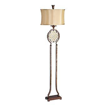 1 Lampa podłogowa brytyjska brąz, E27