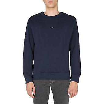 A.p.c. Coeiph27621iak Men's Blue Cotton Sweatshirt