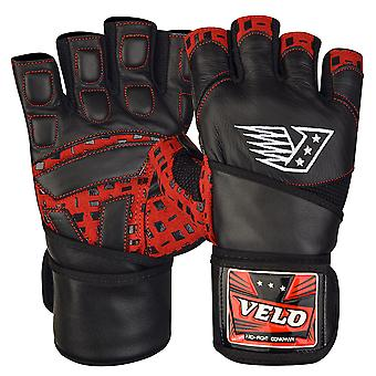 VELO R1 Leather Weight Lifting Gloves