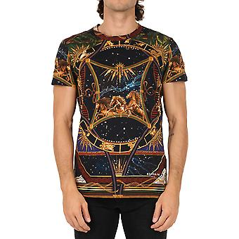 Balmain Uh01601i351aaa Men's Multicolor Bomull T-shirt