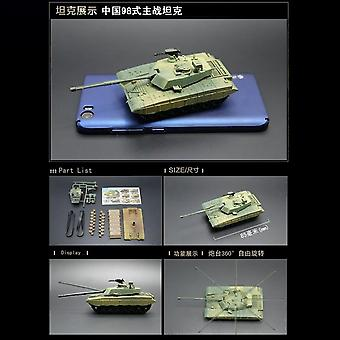 Action Figure Mini Tank Assembled Model - Heavy Machine Gift For Children Diy Toys
