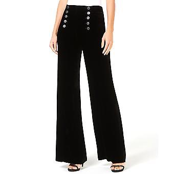 Nanette Lepore | Slinky Sailor Wide-Leg Velvet Pants