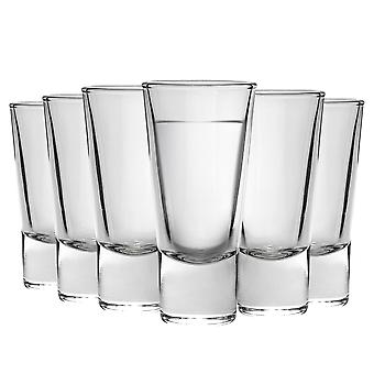 Bormioli Rocco Ypsilon Glass Shot Glasses Set - 70ml - Pack of 6