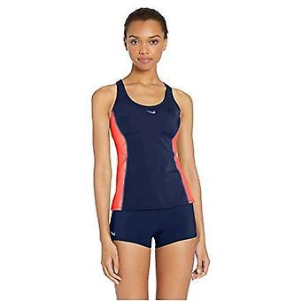 Nike Swim Women's Color Surge Powerback Tankini Swimsuit Set, Monsoon Blue, X...