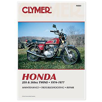 Clymer M323 Manual for Honda 250 & 360CC Twins 74-77