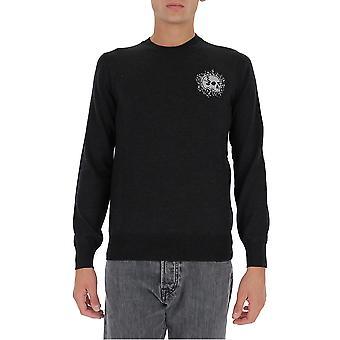 Alexander Mcqueen 626442q1wzh1172 Men's Black Wool Sweater