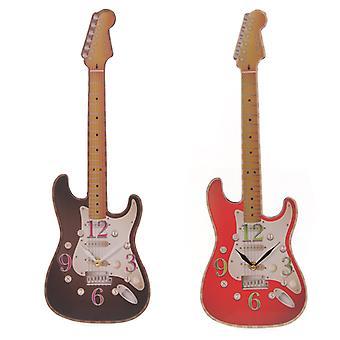Hauska uutuus rock kitaran muotoinen seinäkello x 1 pakkaus