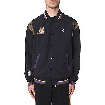 Marcelo Burlon Cmea117r199451161088 Men's Black Nylon Outerwear Jacket