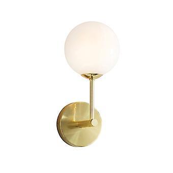 Endon Lighting Otto - Lampe murale Satin Brossé Or Effet Plaque & Gloss Opal Glass 1 Light Dimmable IP20 - G9