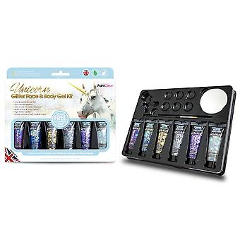 PaintGlow (gs036) Gift-set: Unicorn Chunky Glitter Face & Body Gels