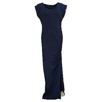 Colleen Lopez Dress Raglan Style Cap Sleeve Maxi Blue 696-765
