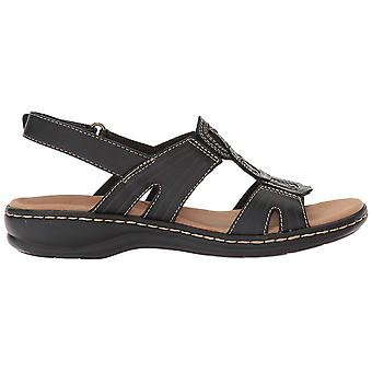 Clarks Naisten leisa nahka avoin toe rento slingback sandaalit