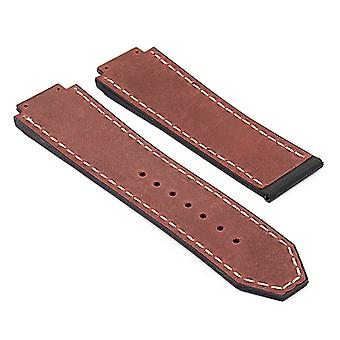 Strapsco dassari s6 vintage leather strap for hublot big bang