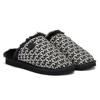 מייקל קורס ג'ניס ג'אקארד לוגו נשים שחור נעלי בית