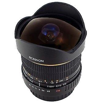 Rokinon fe8m-c 8mm f3.5 fisheye lentille fixe pour canon - noir