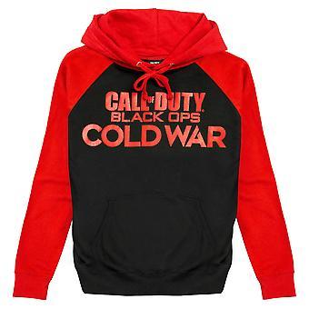 Call of Duty Ops Black Ops המלחמה הקרה טקסט לוגו גברים & apos;ס קפוצ'ון ספול | סחורה רשמית