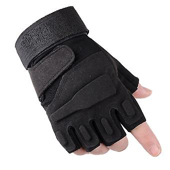 Homemiyn Sports Outdoor Gloves Half-finger Plus Velvet Non-slip Safety Gloves