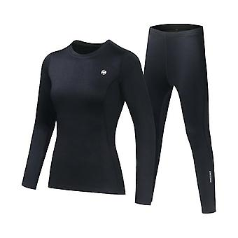 Men-women Thermal Underwear Set. Winter Quick-drying Warm Tights Fitness