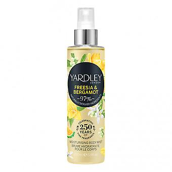 Yardley Freesia & Bergamot Body Mist Deodorizing Body Spray