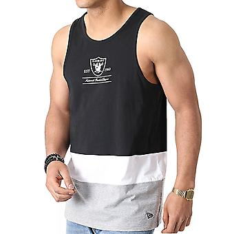 New Era Miesten NLF Oakland Raiders Team Colour Block Vest Tank Top - Musta