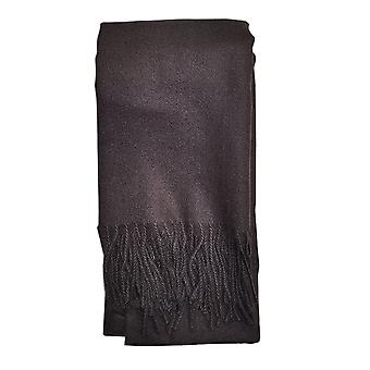 Plain Black Unisex Scarf by Butterfly Fashion London