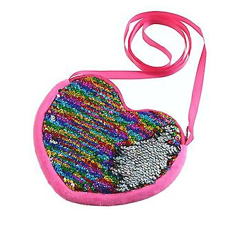 Love & Hearts Sequins Crossbody Coin Purse / Bag