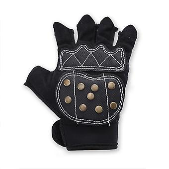 Adult Professional Roller Skating Gloves With Braking Copper Nails