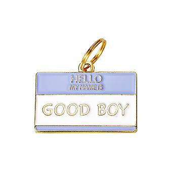 Pet Id Tag - Hello My Name Is 'good'