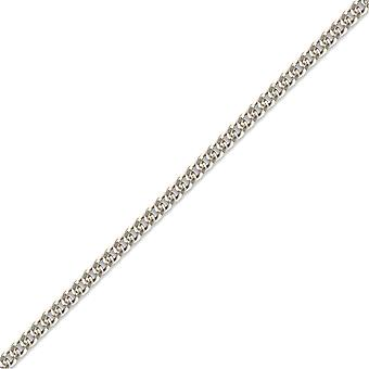 Jewelco London Rhodium Sterling sølv anheng dempe link Chain halskjede