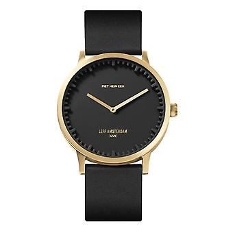 Leff Amsterdam LT75513 T40 Brass Tube Black Dial Wristwatch