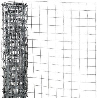 Naturnät tråd kvadrat fläta 0,5x2,5 m 6,4 mm galvaniserat stål