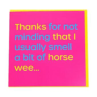 Gubblecote Horse Wee Greetings Card