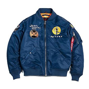 Men Bomber Pilot Jacket Ma-1 Air Force, Jean Sportswear Thin Coat