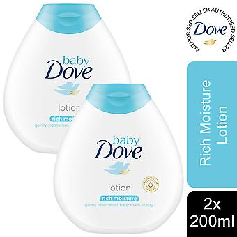 Baby Dove Rich Moisture Fragrance Free Body Lotion, 2 Pack van 200ml
