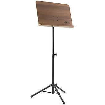 Tiger Wooden Sheet Music Stand - Fully Adjustable Orchestral Music Stand, MUS35-BK