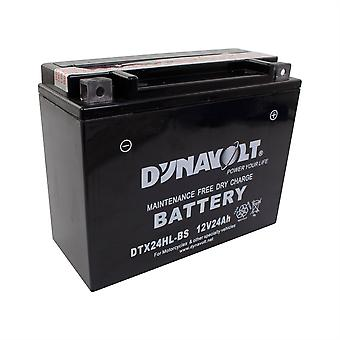 Dynavolt DTX24HLBS Maintenance Free Battery With Acid Pack YTX24HL-BS