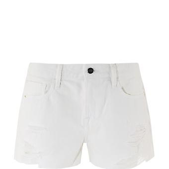 Frame Lggshra171 Women's White Cotton Shorts