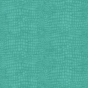 Crocodile Teal Wallpaper