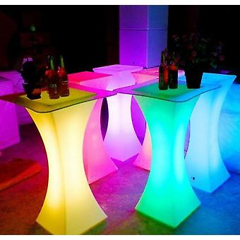 New Rechargeable Led Luminous Cocktail Table  (rgb Color)