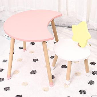 Pohjoismainen huonekaluhuone massiivipuupöydät ja tuolit lastentarhan lapsille