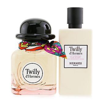 Twilly D'Hermes Coffret: Eau De Parfum Spray 85ml/2.87oz + Moisturizing Body Lotion 80ml/2.7oz 2pcs