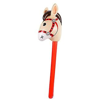Inflatable Horse Heads Cowgirl Stick, Pvc Balloon, Outdoor Educational