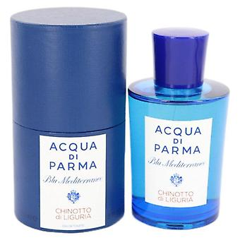 Blu Mediterraneo Chinotto Di Liguria Eau De Toilette Spray (Unisex) By Acqua Di Parma 5 oz Eau De Toilette Spray