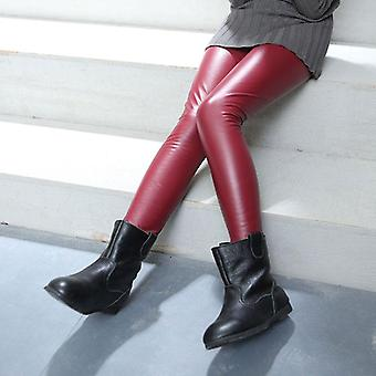 Spring Autumn Leggings For, Leather Skinny Pants