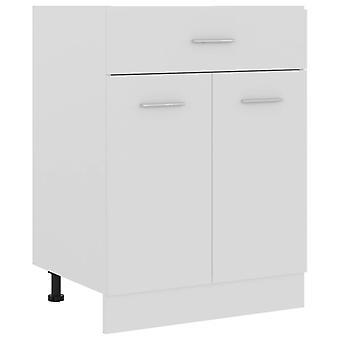 Drawer Bottom Cabinet White 60x46x81.5 Cm Chipboard