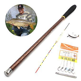 2.6M 3.0m 3.4m caña de camarones caña de pescar de carpa ultraligeros alta caña de pescar con polo de mano carbonhard aparejar la caña de pescar de arroyos infantiles