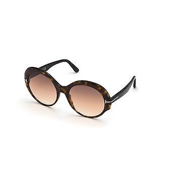 Tom Ford Ingefær TF873 52F Mørk Havana/Brun Gradient Solbriller