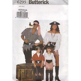 Butterick ompelu kuvio 6295 Merirosvo puku koko aikuinen XS- XL