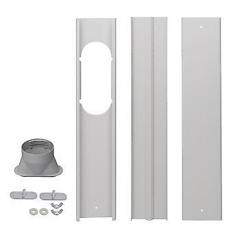 Placas de sello de ventana push y pull para el aire acondicionado portátil gris